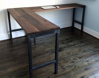 30 Unique Reclaimed Wood Corner Desk Pics