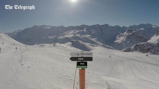 Watch Graham Bell ski La Face run in Val d'Isère