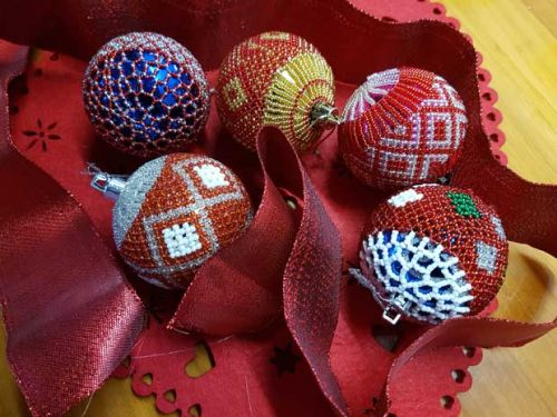 From KwaZulu Natal with love: hand-beaded baubles add something special to a Christmas tree