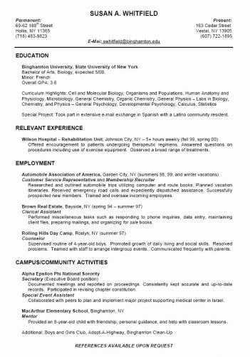 30 Lovely High School Student Resume Template Pictures