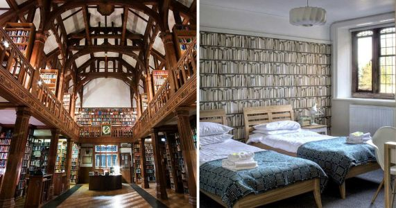 Book lovers, rejoice: You can now spend the night in an actual library
