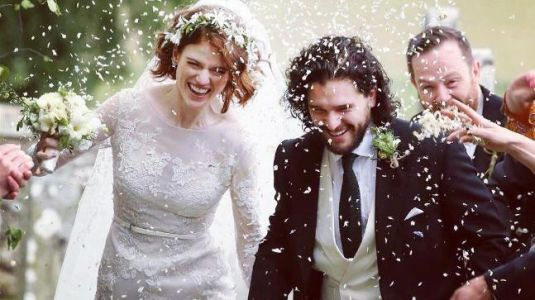 Games of Thrones stars Kit Harington and Rose Leslie looked straight out of a dream on wedding day