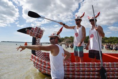 Australia has its own annual Beer Can Regatta, obviously