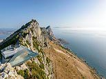 Former military lookout point perched on the Rock of Gibraltar is transformed into 'Skywalk'
