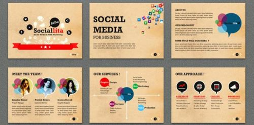 30 Inspirational Free social Media Powerpoint Template Graphics