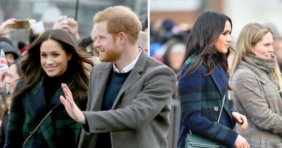 Meghan Markle's £1995 tartan Burberry coat prompts Valentine's roses from young Scottish fans - where to buy