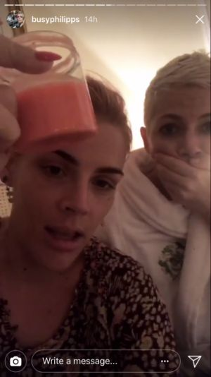 Michelle Williams Got a Millennial Pink Pixie Cut, Courtesy of Busy Philipps
