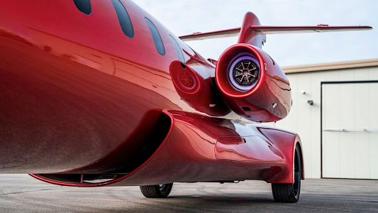 This private jet converted into a full-on stretch limousine is no April Fool's joke