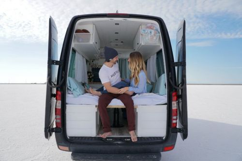 This couple sold all their possessions to live in a converted van