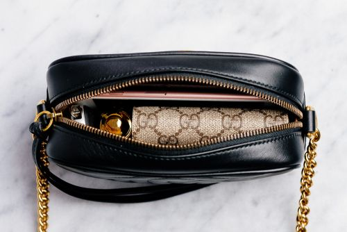 What Fits: Gucci GG Marmont Mini Matelassé Camera Bag