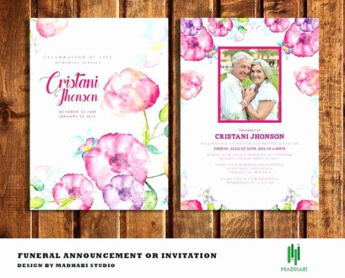 30 Lovely Memorial Cards Template Free Graphics