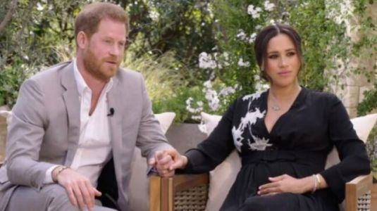 Meghan Markle tells Oprah Winfrey Palace 'perpetuated falsehoods' about Harry and her