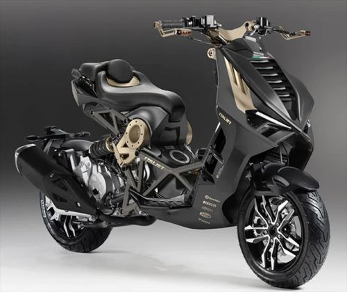 The World's Most Spectacular Dragster Design Makes a Comeback From The 90's With Italjet Moto