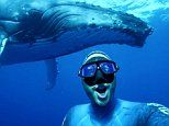 Having a whale of a time! Amazed diver snaps a selfie with huge humpback whale