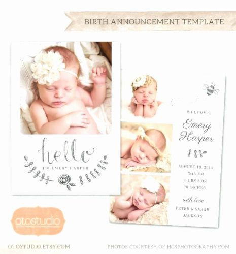 30 Luxury Birth Announcement Template Free Online Images