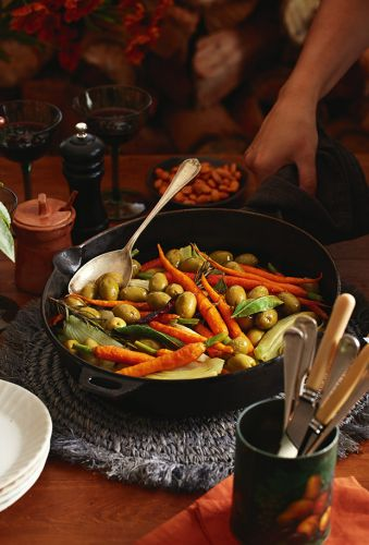 Recipe: Ruth Pretty's Warm Green Olives, Carrots & Fennel Bulb with Roasted Smoked Paprika Almonds