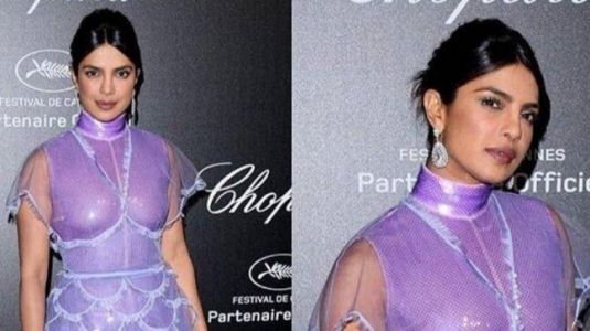 Priyanka Chopra's lavender dress screams SEXY at Cannes 2019 party. See pics and videos