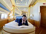 Blogger flies on Boeing 747 PRIVATE JET once owned by Qatari royals
