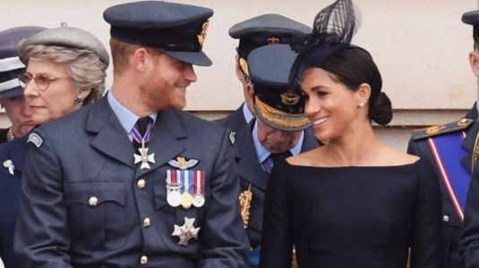 Meghan Markle torn apart for black dress at RAF centenary celebrations