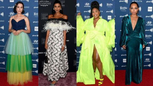 Celebrities Went All in on Evening Gowns This Week