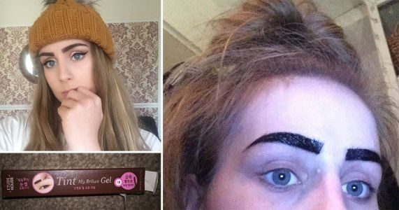 Teenager ripped out half of her eyebrows after brow tint 'stuck to them like tarmac'