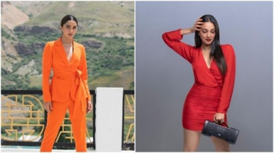 Kiara Advani cannot get enough of orange and red in her wardrobe. On Fashion Friday