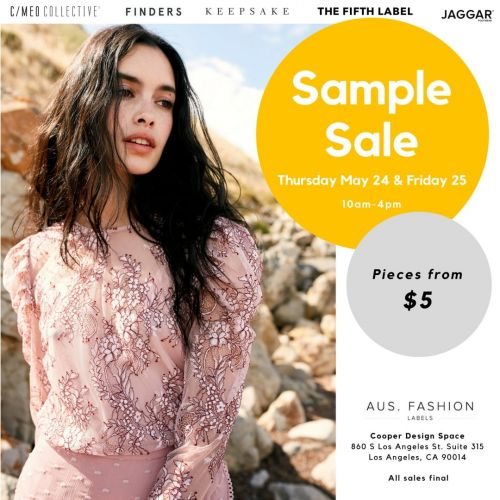 AUS. Fashion Labels Sample Sale - May 24th to 25th - Los Angeles