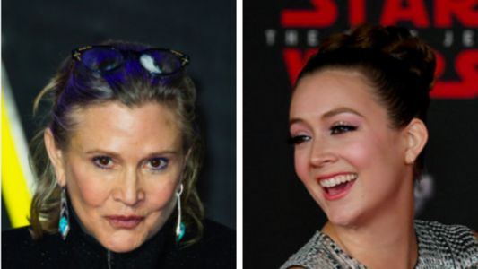 The Sweet Ways Billie Lourd Honored Carrie Fisher At The 'Star Wars' Premiere