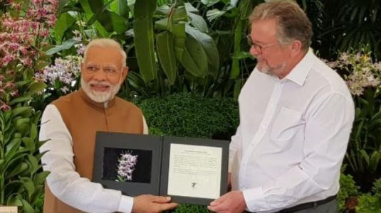 With Singapore's Dendrobrium Narendra Modi, PM has 3 flowers named after him