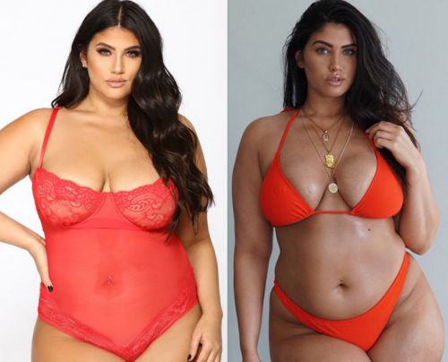 Plus-size model reminds us all just how talented picture editors are