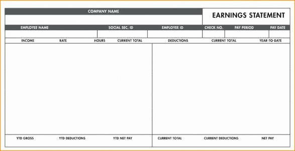 30 Best Of Adp Paycheck Stub Template Images