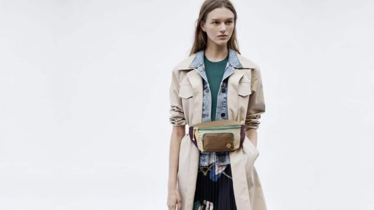 Weekly Obsessions: Sandro's coat with denim insert, Rosantica's pearl clutch and more