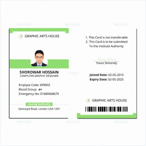 30 Fresh Free Id Card Template Images