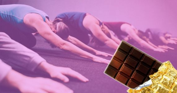 Chocolate yoga is here and it's really crossed the line