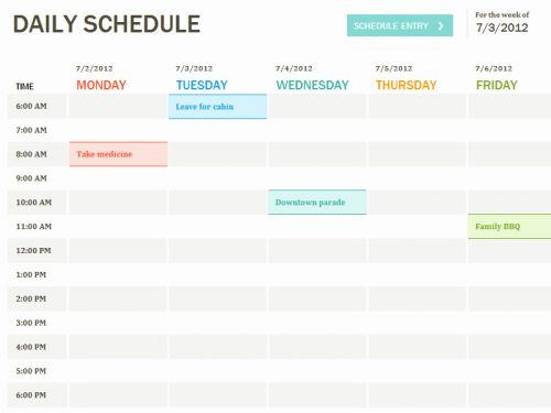 30 New 6 Week Schedule Template Images