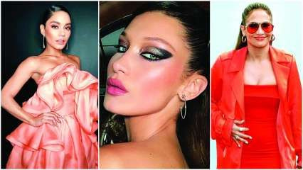 Bella Hadid, Jennifer Lopez and Vanessa Hudgens show how to rock coral in your make up