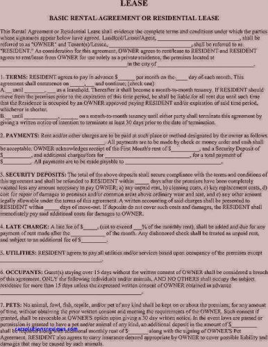 30 Beautiful Renters Agreement Template Free Pictures