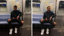 Model Brilliantly Busts Woman Who Secretly Took Photos Of Him On The Subway