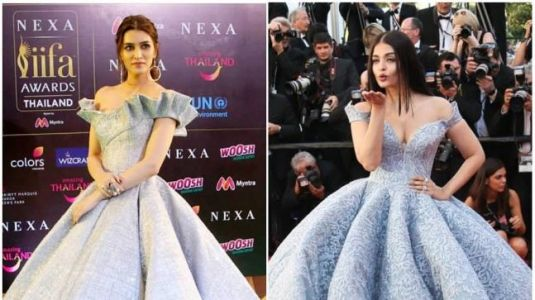 Kriti Sanon's IIFA 2018 gown is way too similar to Aishwarya's Cannes look