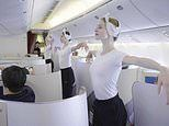 The moment dancers from the Paris Opera performed a flash-mob BALLET on board an Air France flight