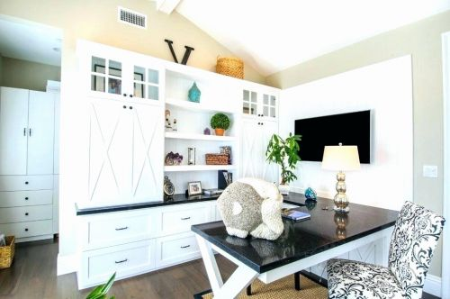 20 Unique Wall Units with Desk Images