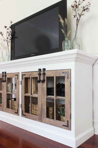 46 Beautiful White Tv Console Table Images