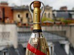 Space age bottle of luxury Mumm Champagne is made for wealthy tourists in orbit