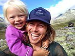 Father spends days climbing mountains and roaming Norwegian wilderness with his daughter aged 3