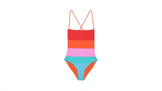 The Rainbow Swimsuit Whitney Plans to Wear Every Weekend This Summer