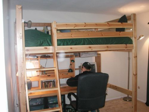 30 Luxury Double Loft Bed with Desk Graphics