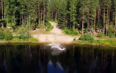 Who needs snow? Finnish skiers film epic summer freestyle edit in a forest