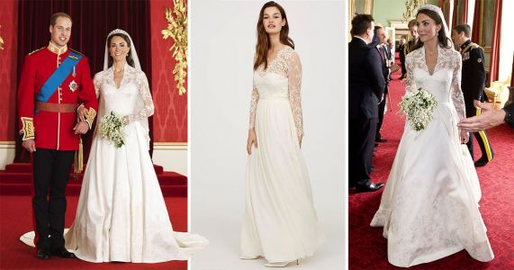 H&M is selling a Kate Middleton wedding dress rip off - and it's far more affordable than her £250,000 frock