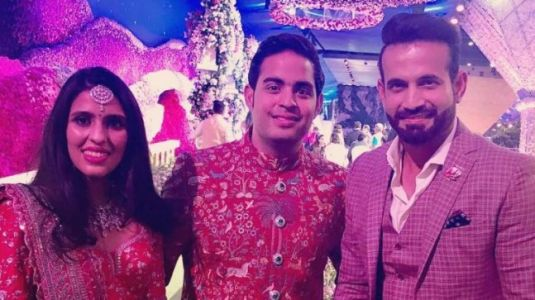 Irfan Pathan posts 1000-Watt photo with Akash Ambani and Shloka Mehta from their wedding