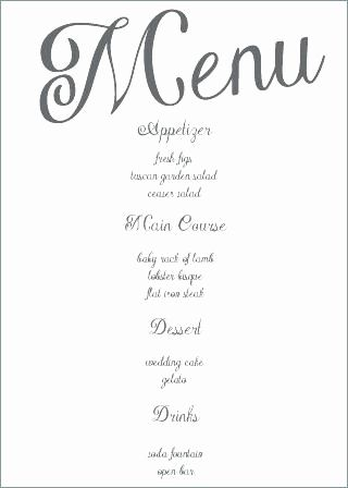 30 Inspirational Wedding Drink Menu Template Pictures